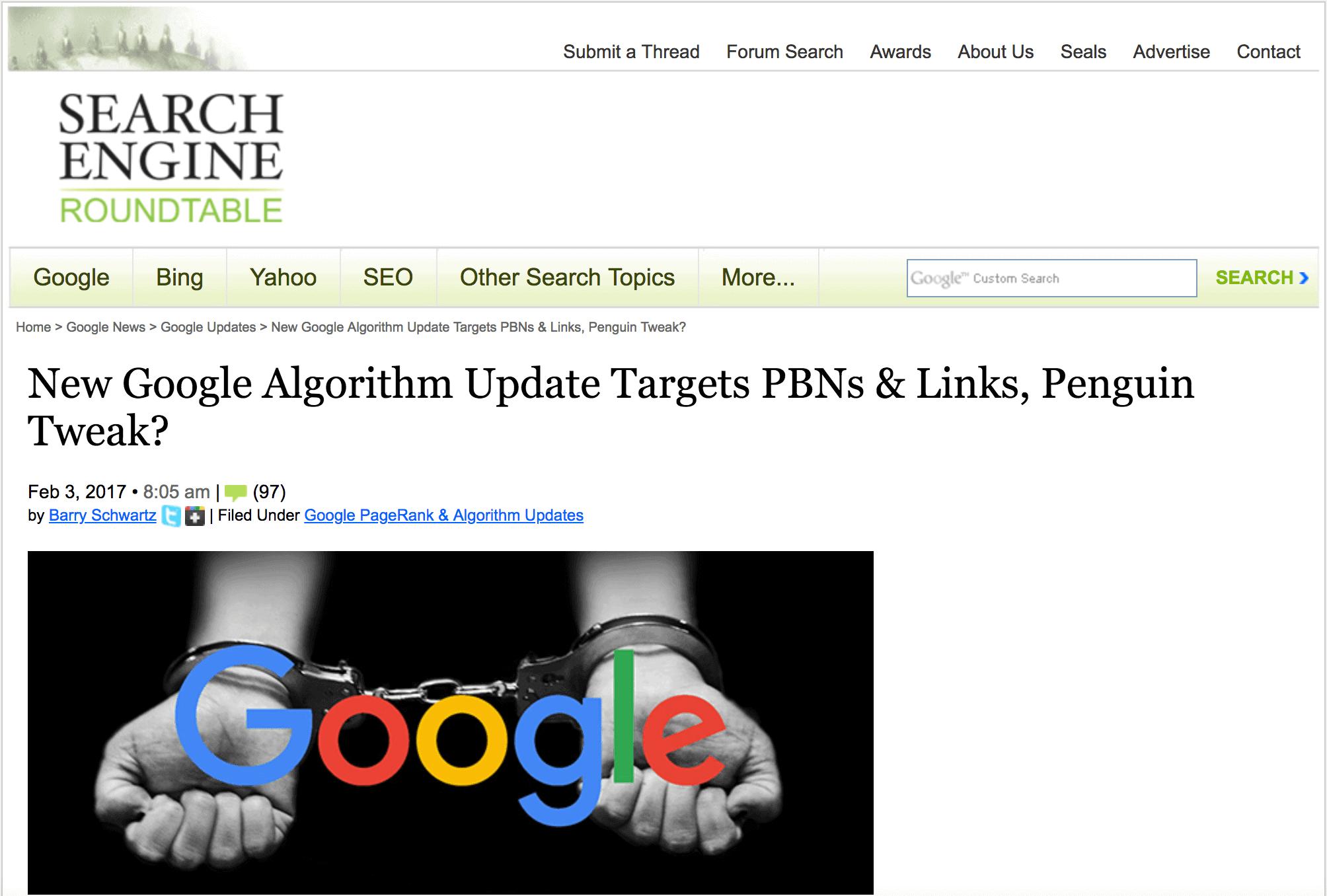 Google – PBN crackdown