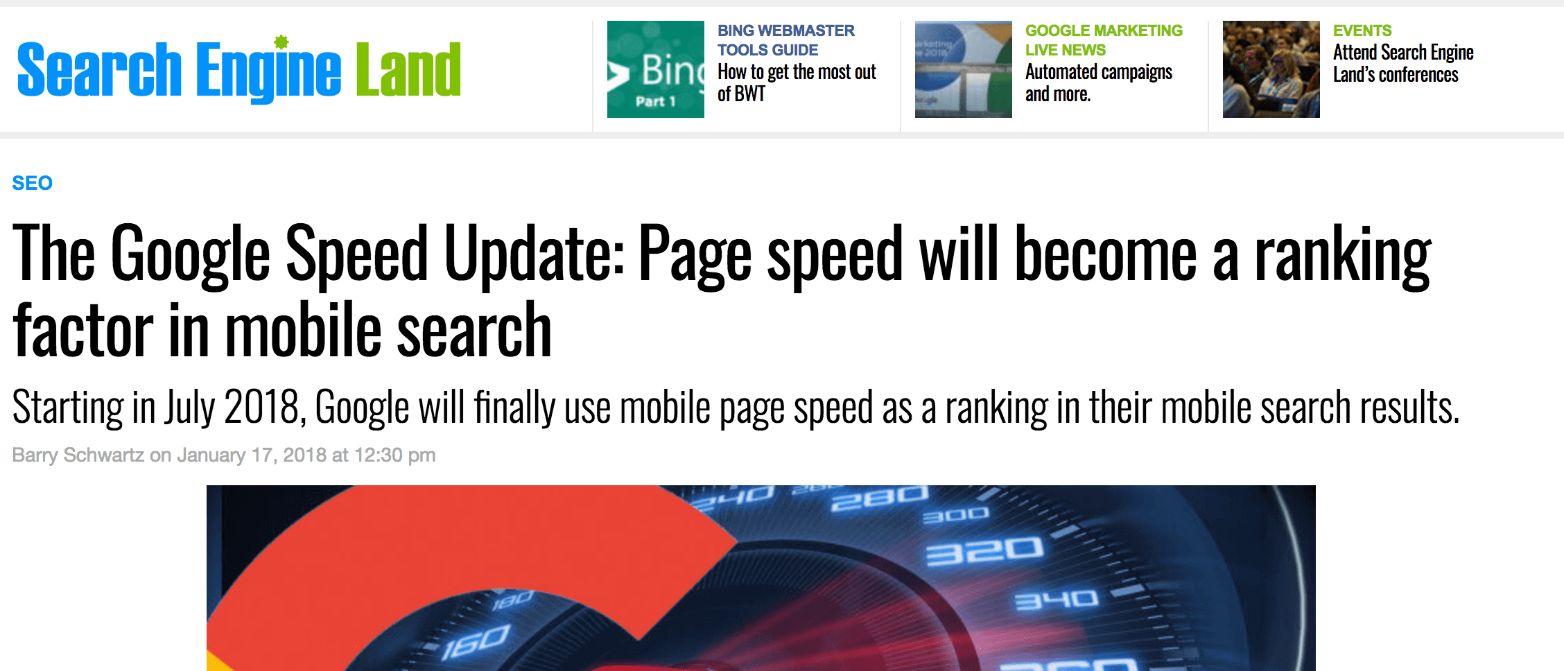Google update makes speed more important