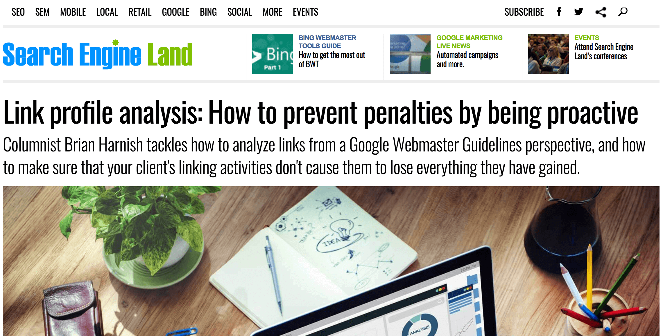 Unnatural link profiles risk Google penalties