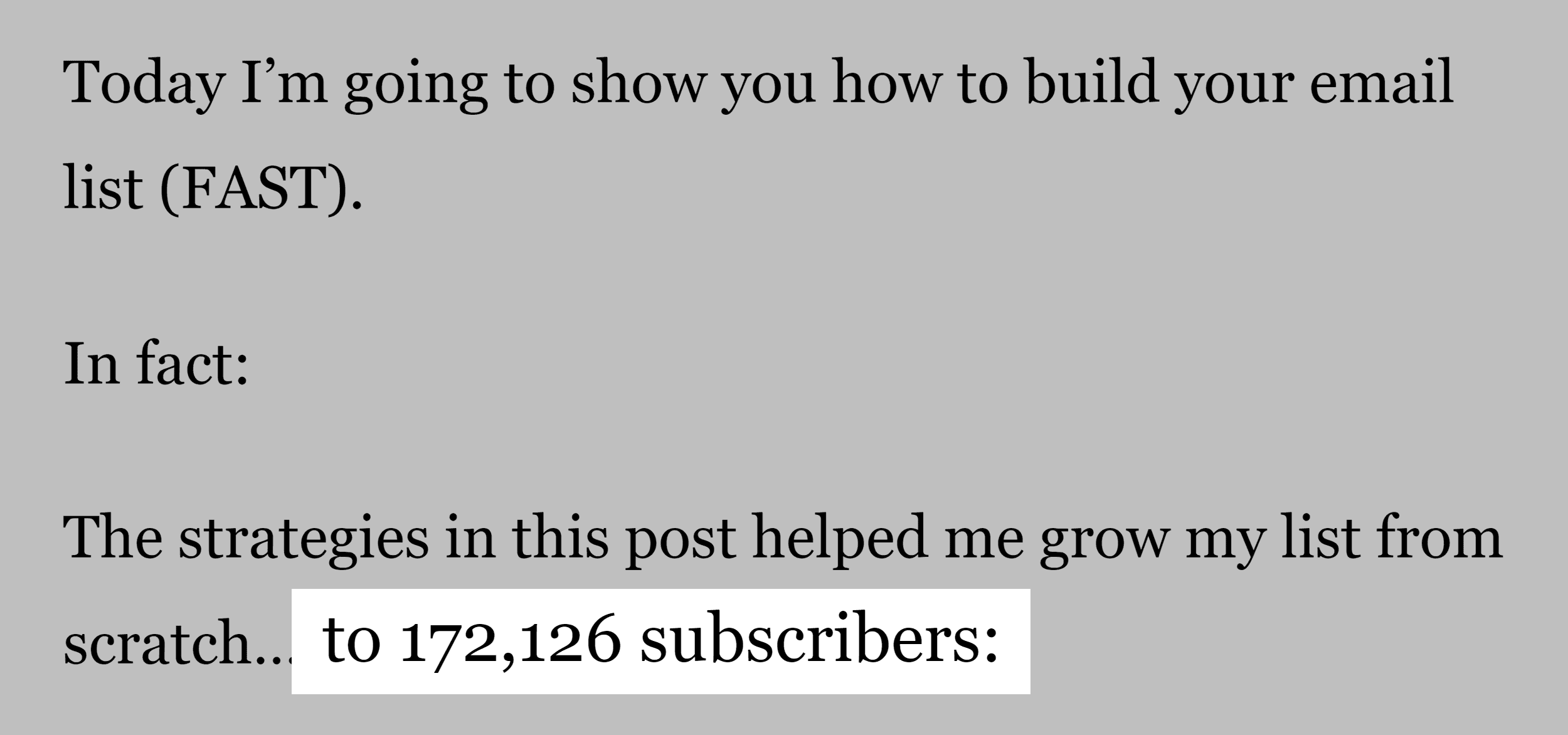 172K email subscribers