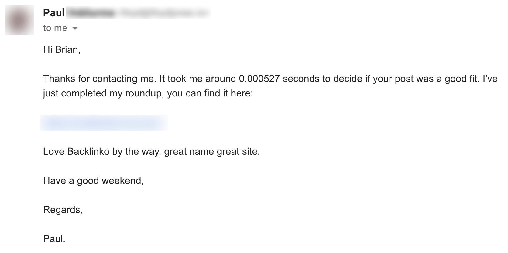 Брайан линк – Ответ по электронной почте