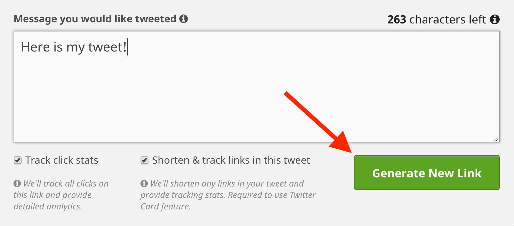 ClickToTweet – Create