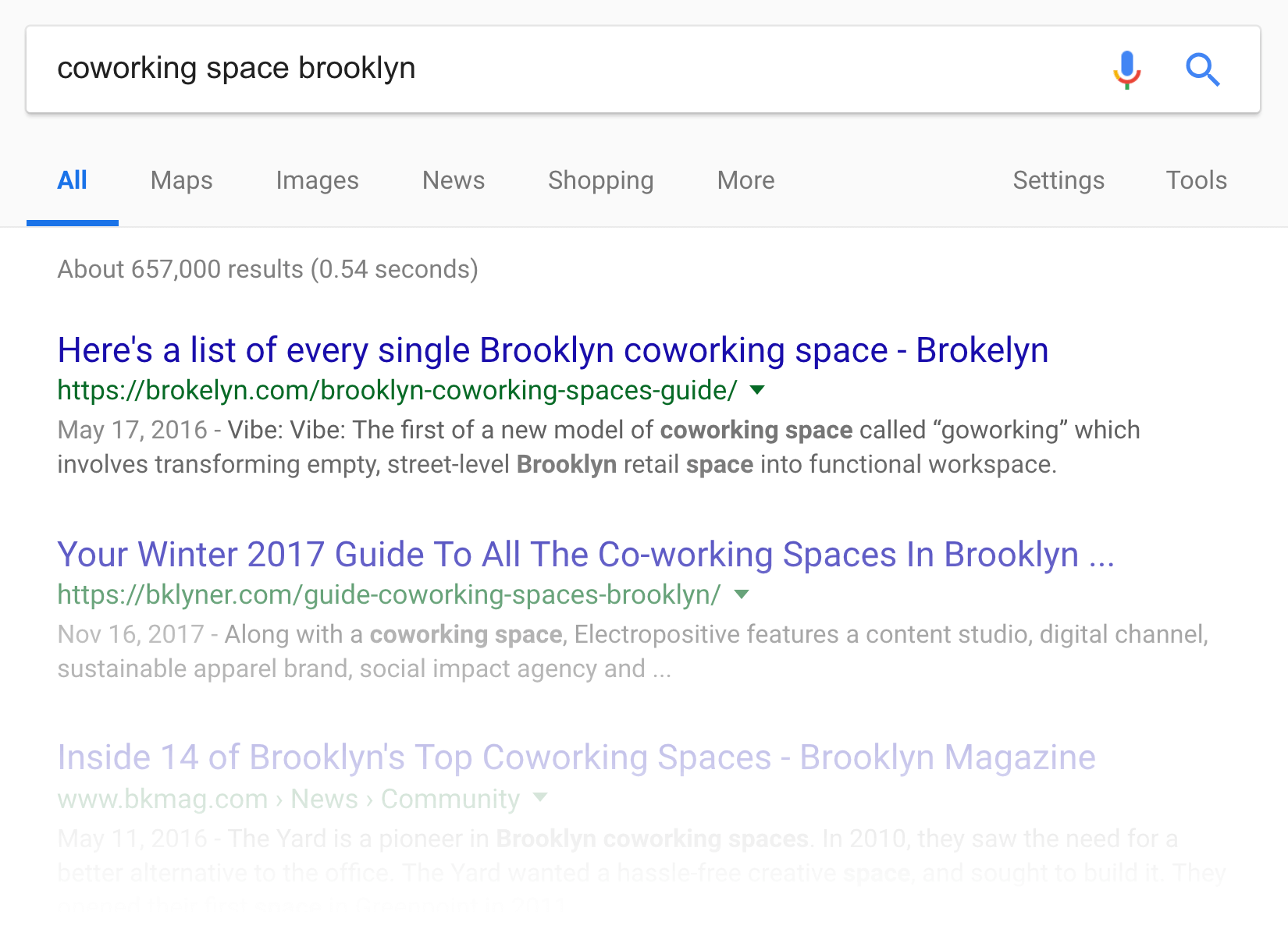 """""""coworking space brooklyn"""" search"""