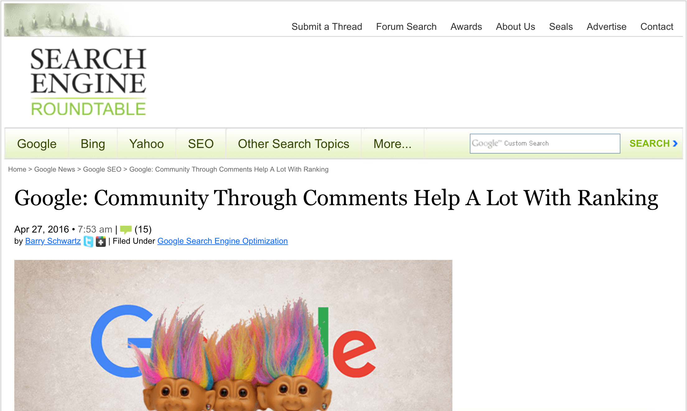 """Google employee: """"Comments can help a lot with rankings"""""""