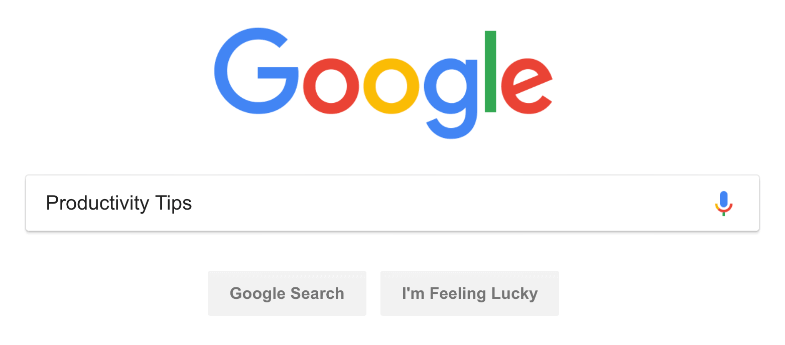 Google search – Productivity tips