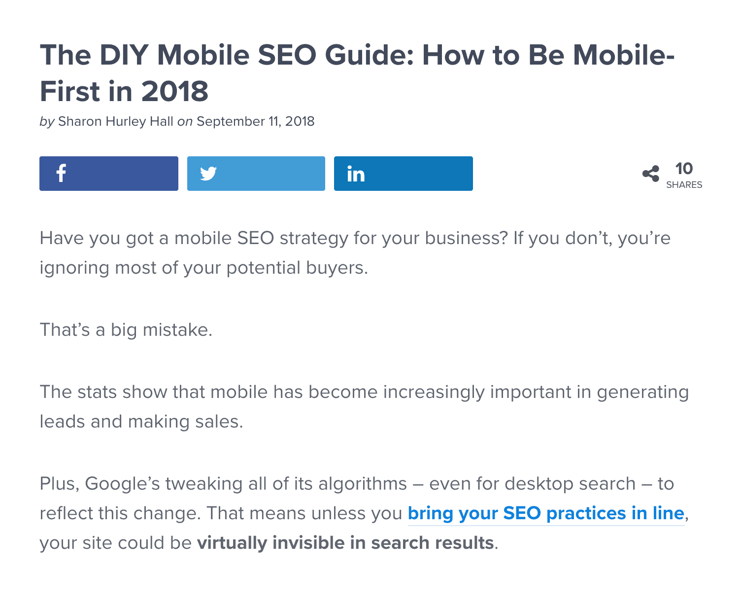 Importance of Mobile SEO result
