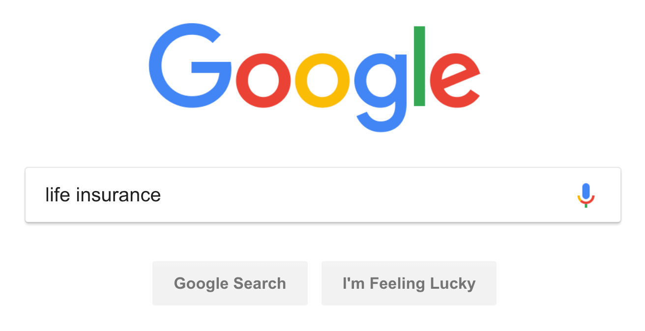 """life insurance"" Google search"