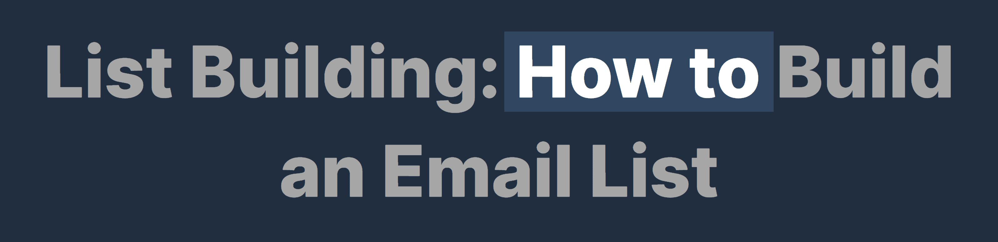 List building – Post title