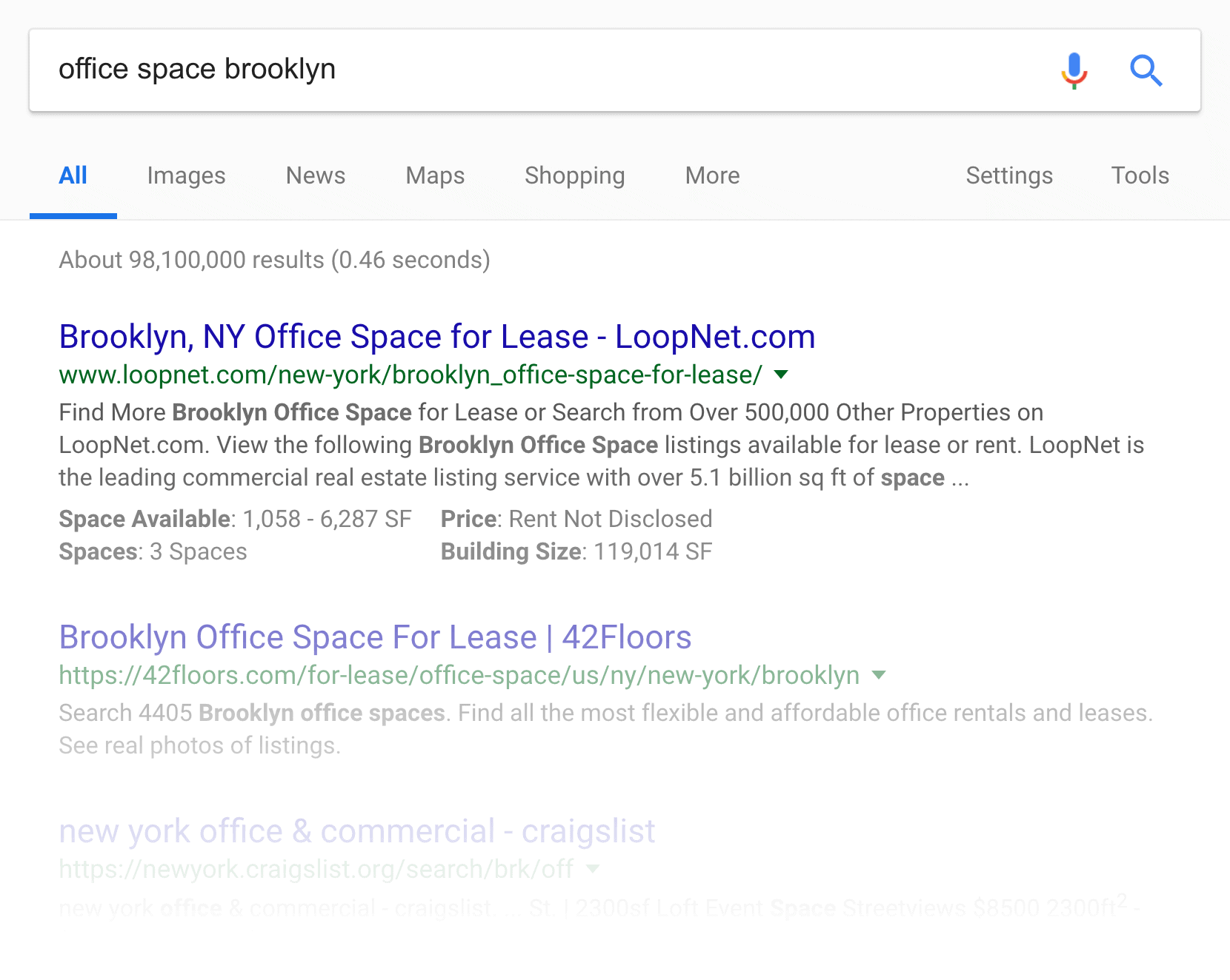 """""""office space brooklyn"""" search"""