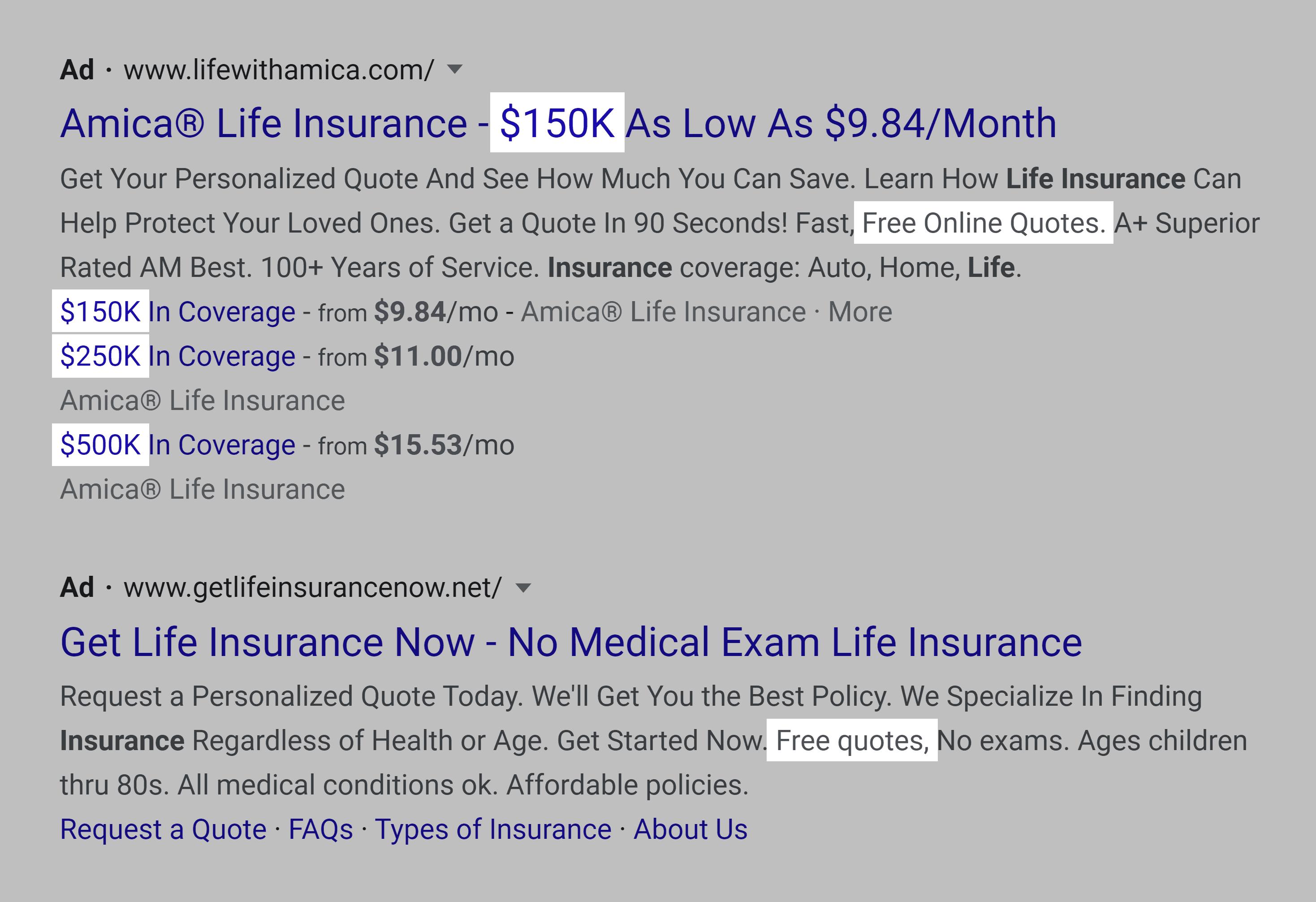 Фразы в объявлениях о страховании жизни