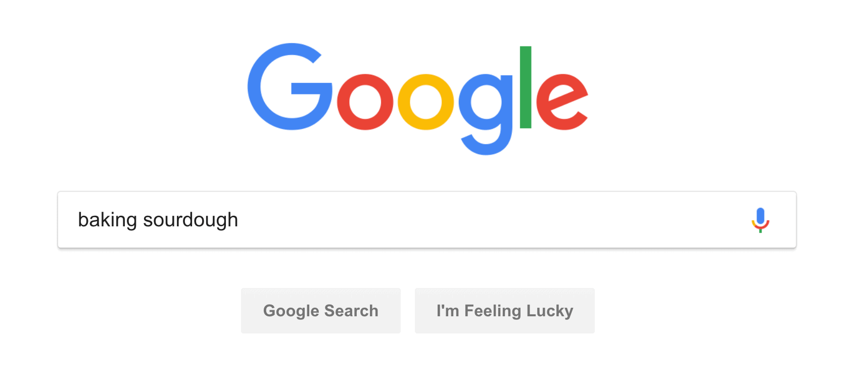 Sample Google search