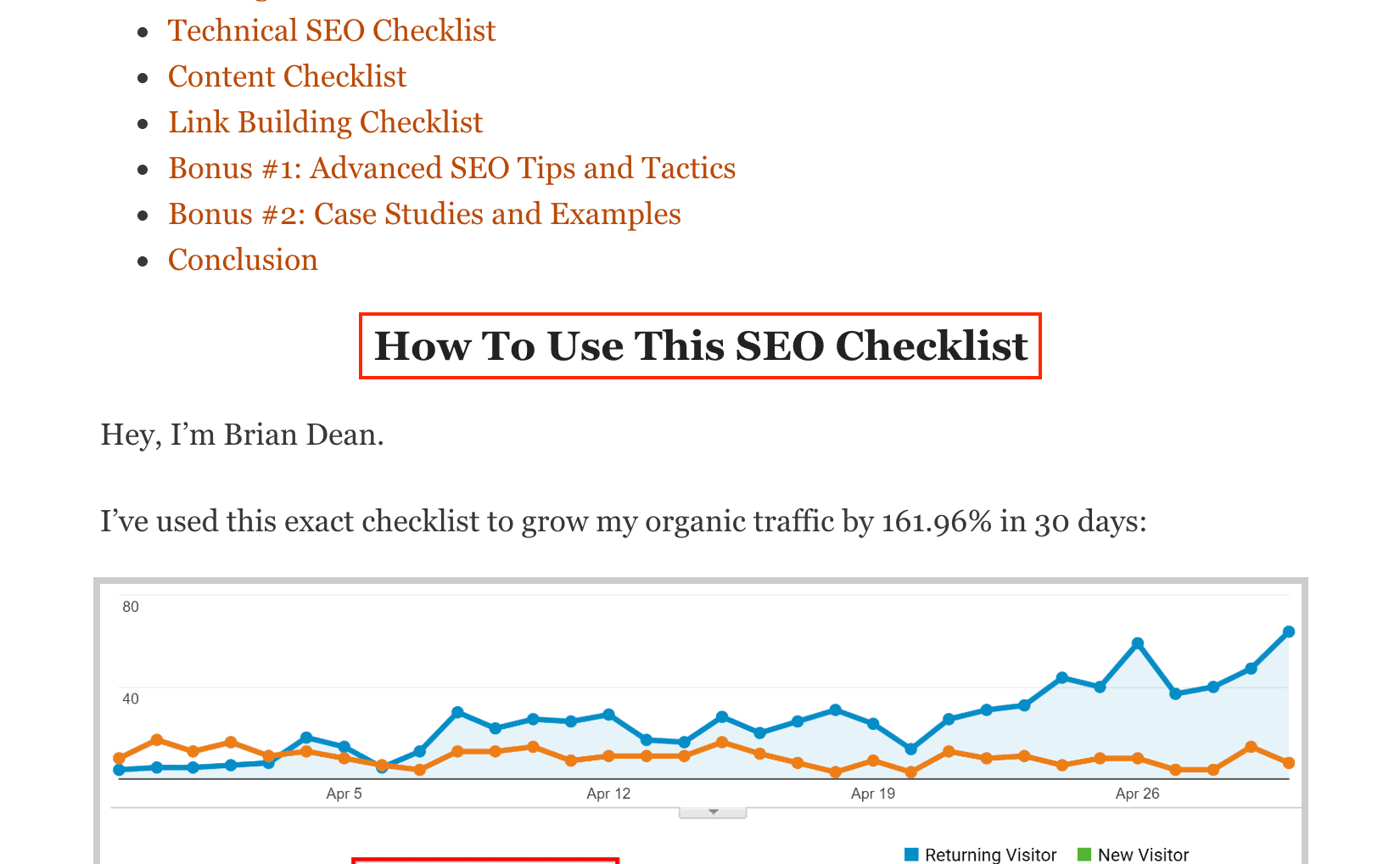 SEO Checklist – Subheaders