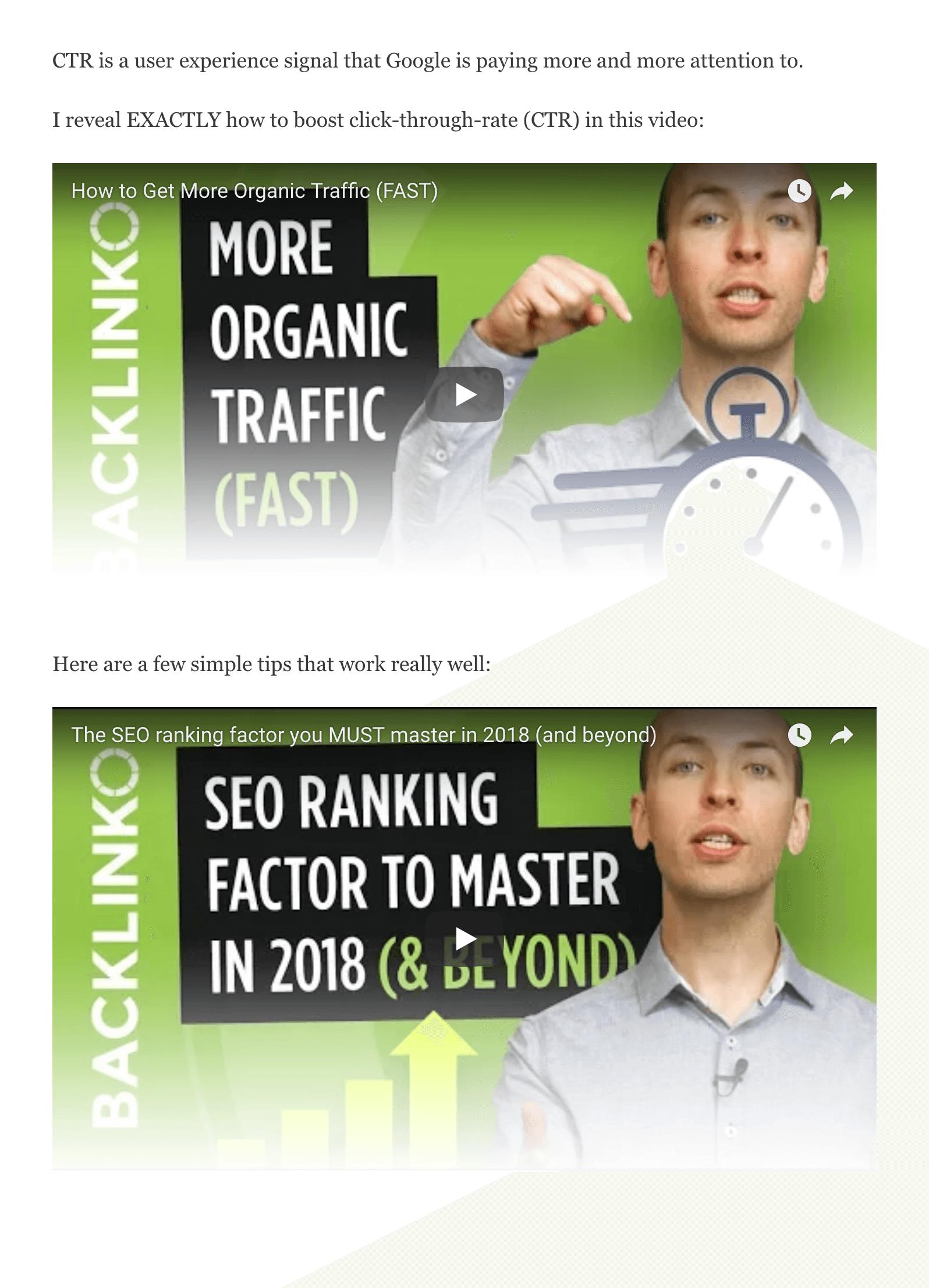 SEO Checklist – Video embeds
