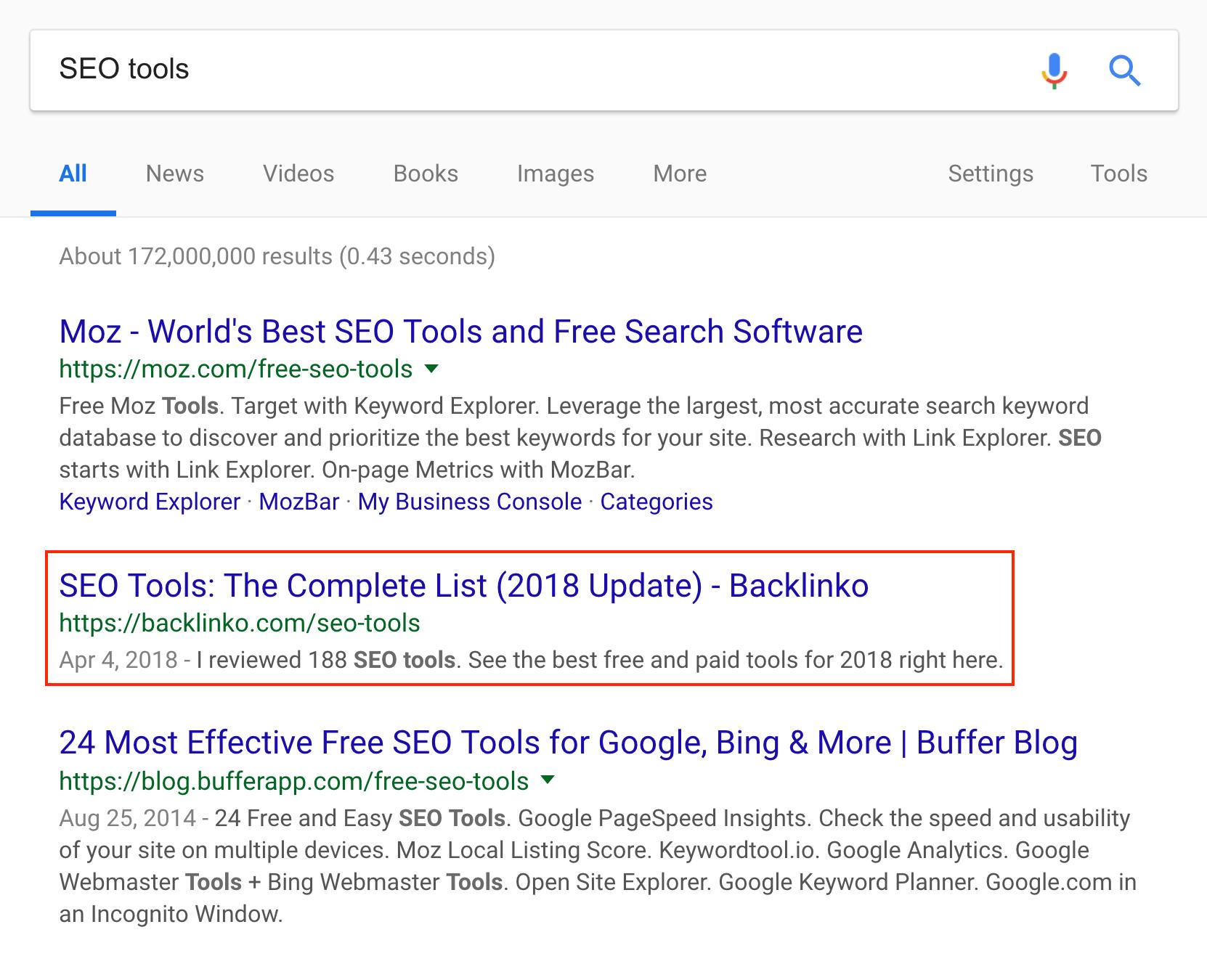 SEO Tools – Top three
