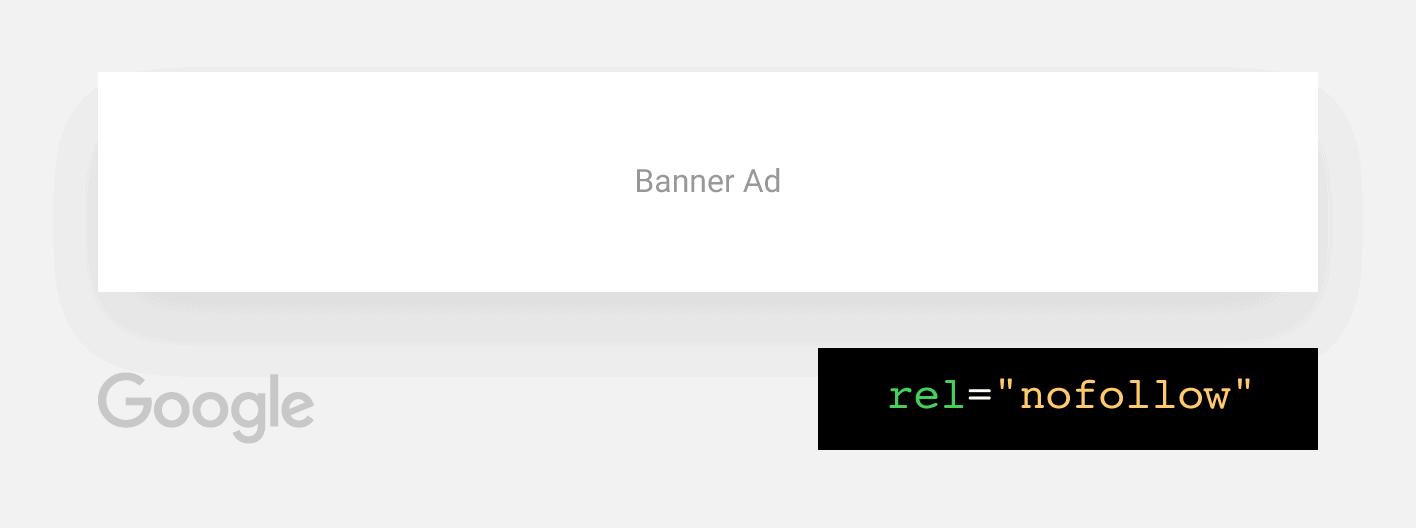 Google banner ads – Nofollow