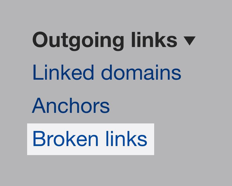 Ahrefs – Broken links