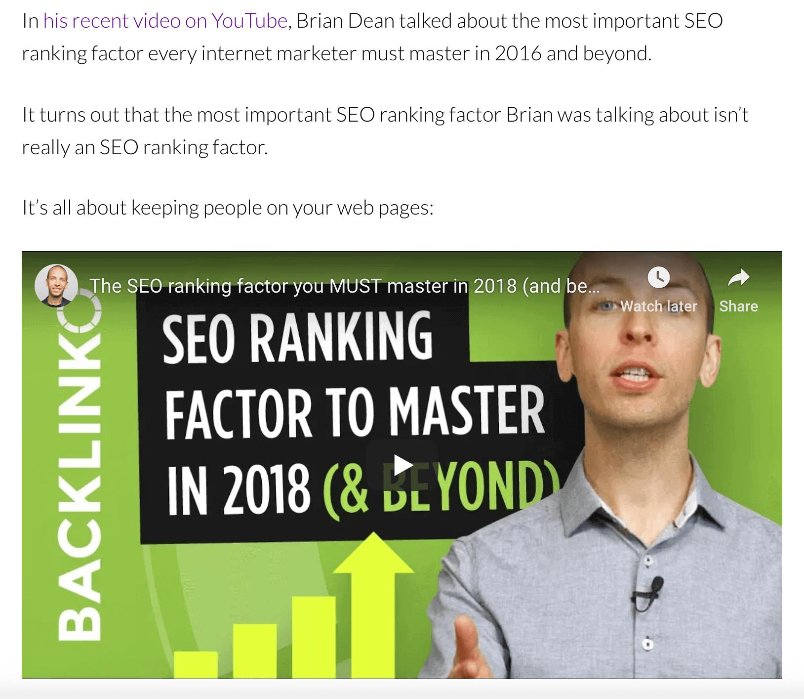 Backlinko – Embed content
