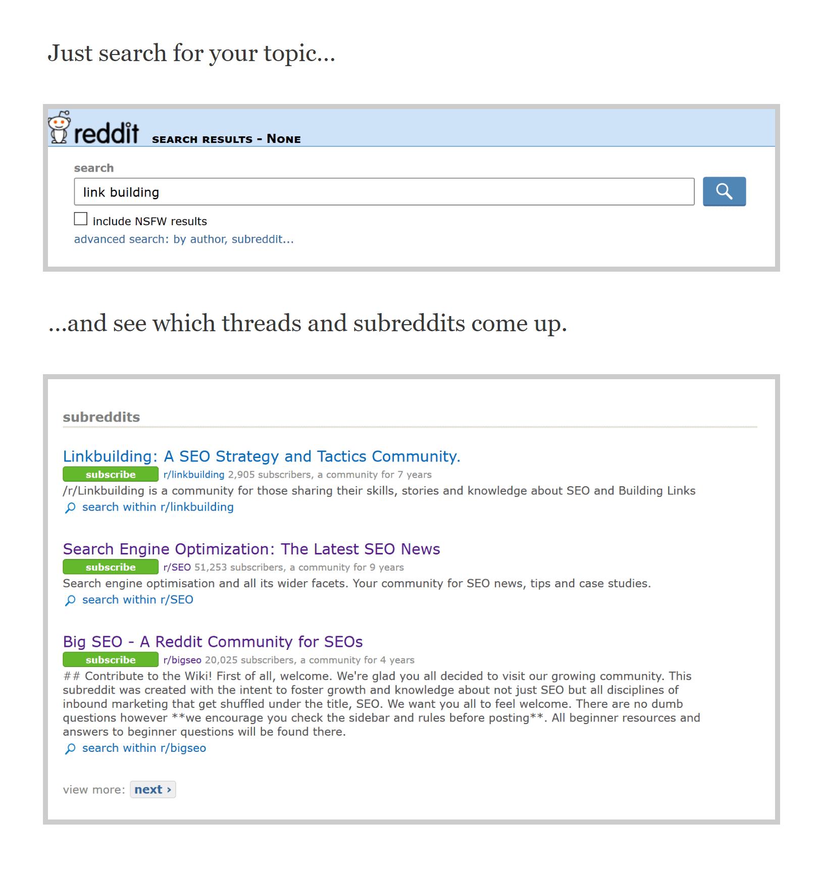 Backlinko screenshot – Outlining a process