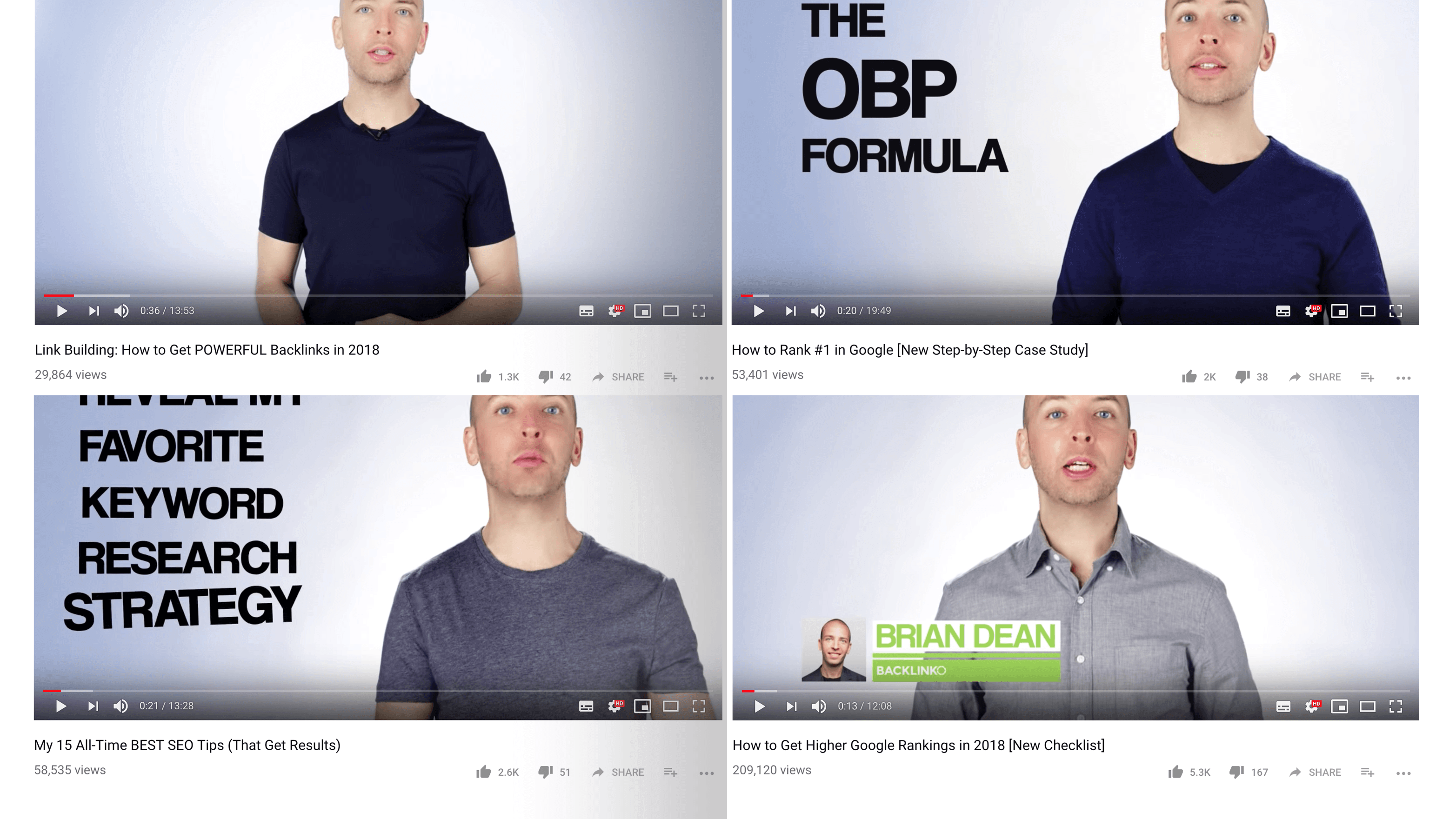 Backlinko videos
