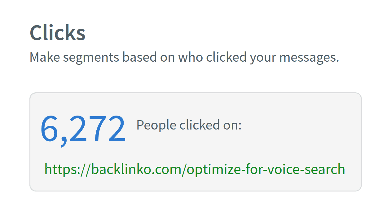 Backlinko – Voice search email clicks