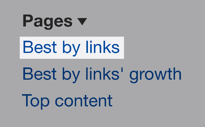 Best by links – Ahrefs