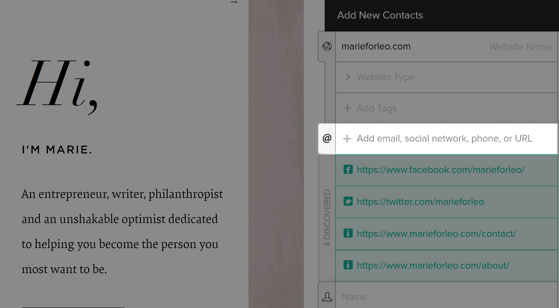 BuzzStream email finder