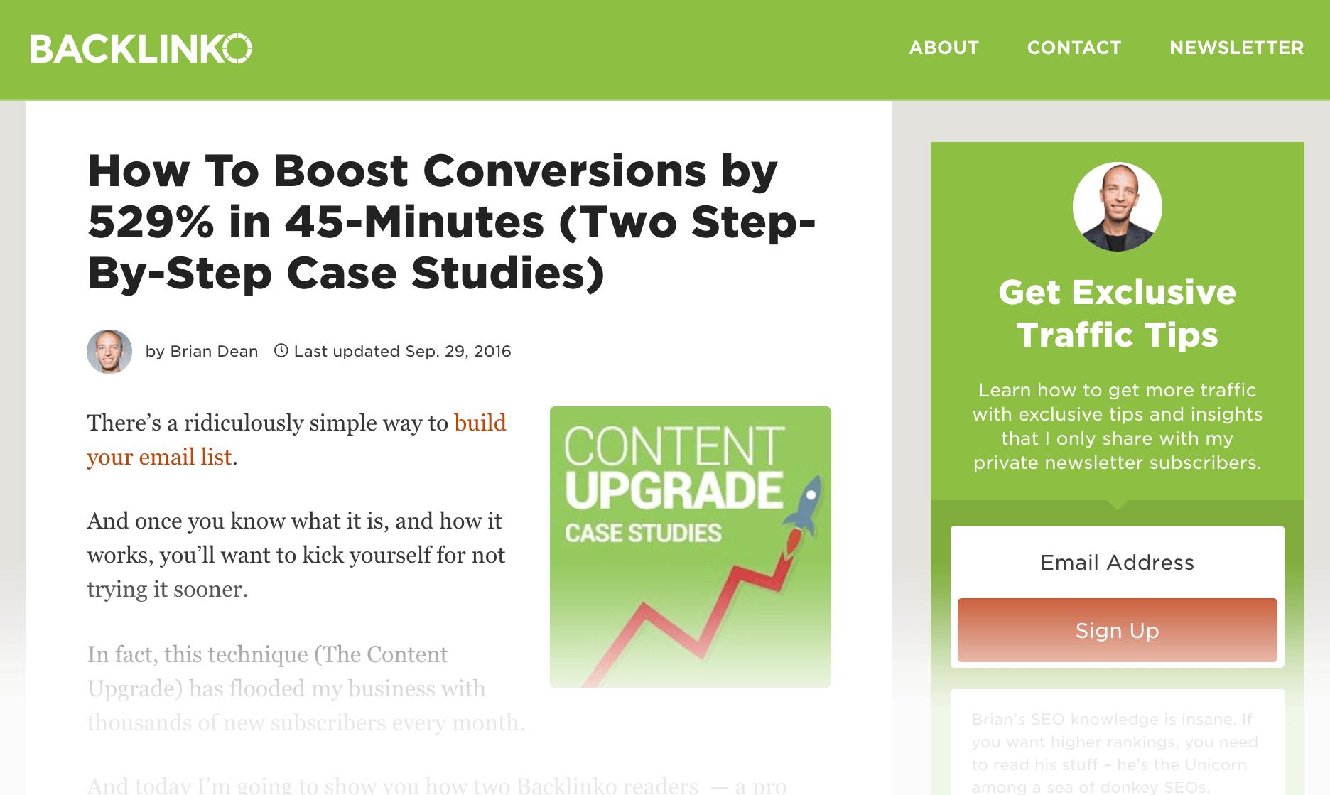 Conversion Optimization – Post