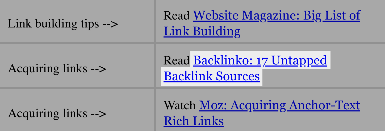 Curriculum links