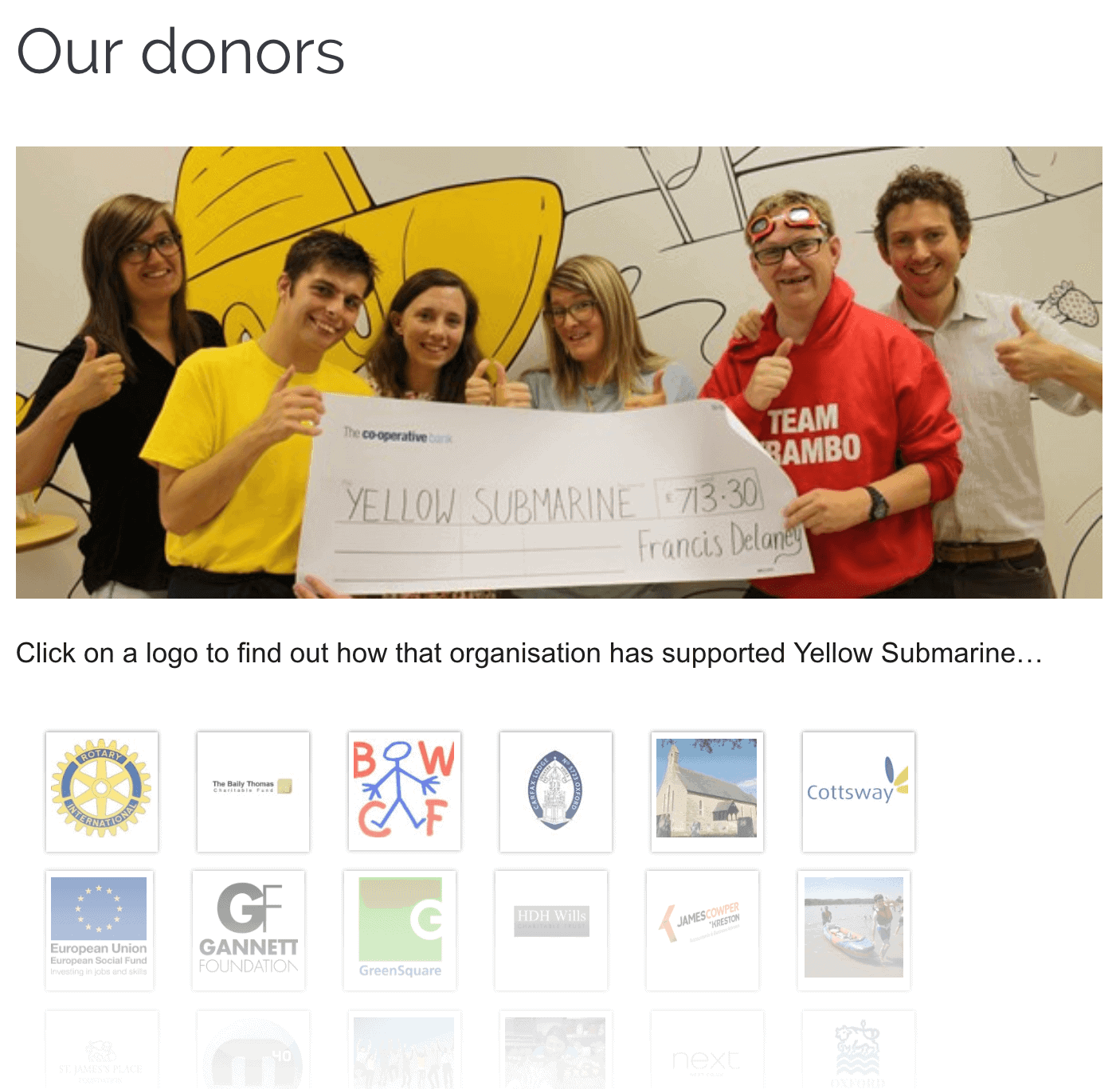 Donate to charities and non-profits