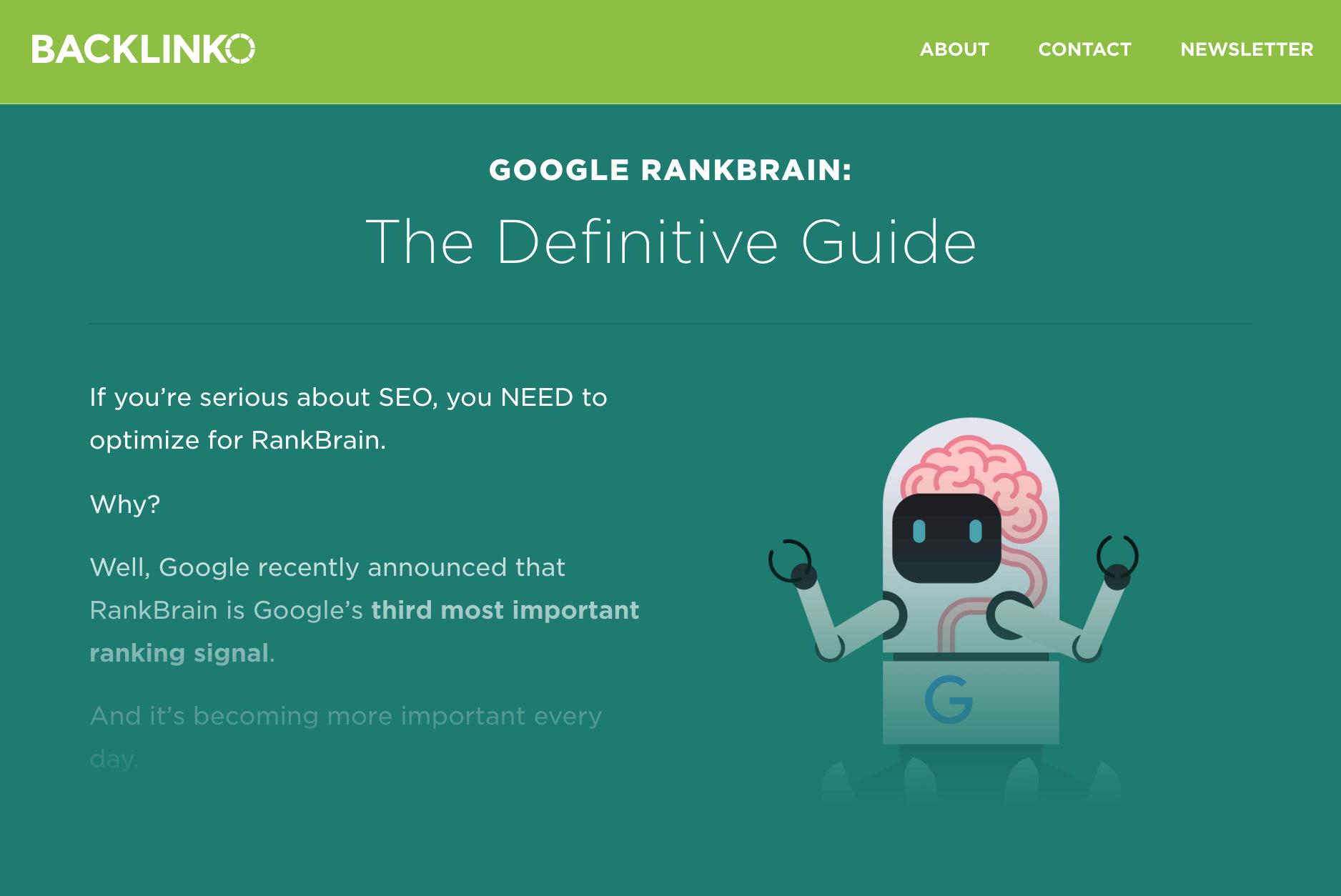Google RankBrain SEO post