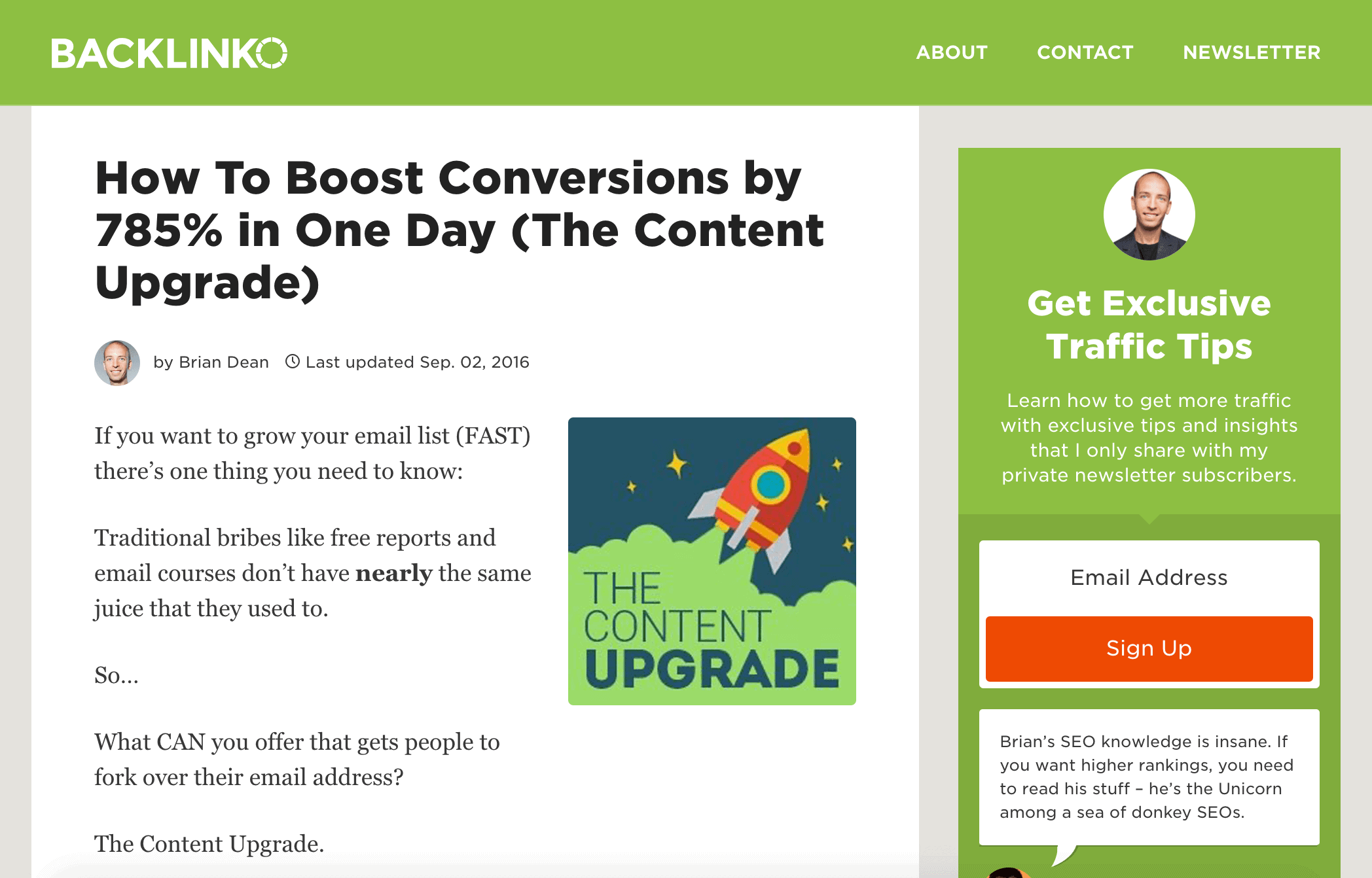 Increase Conversions post