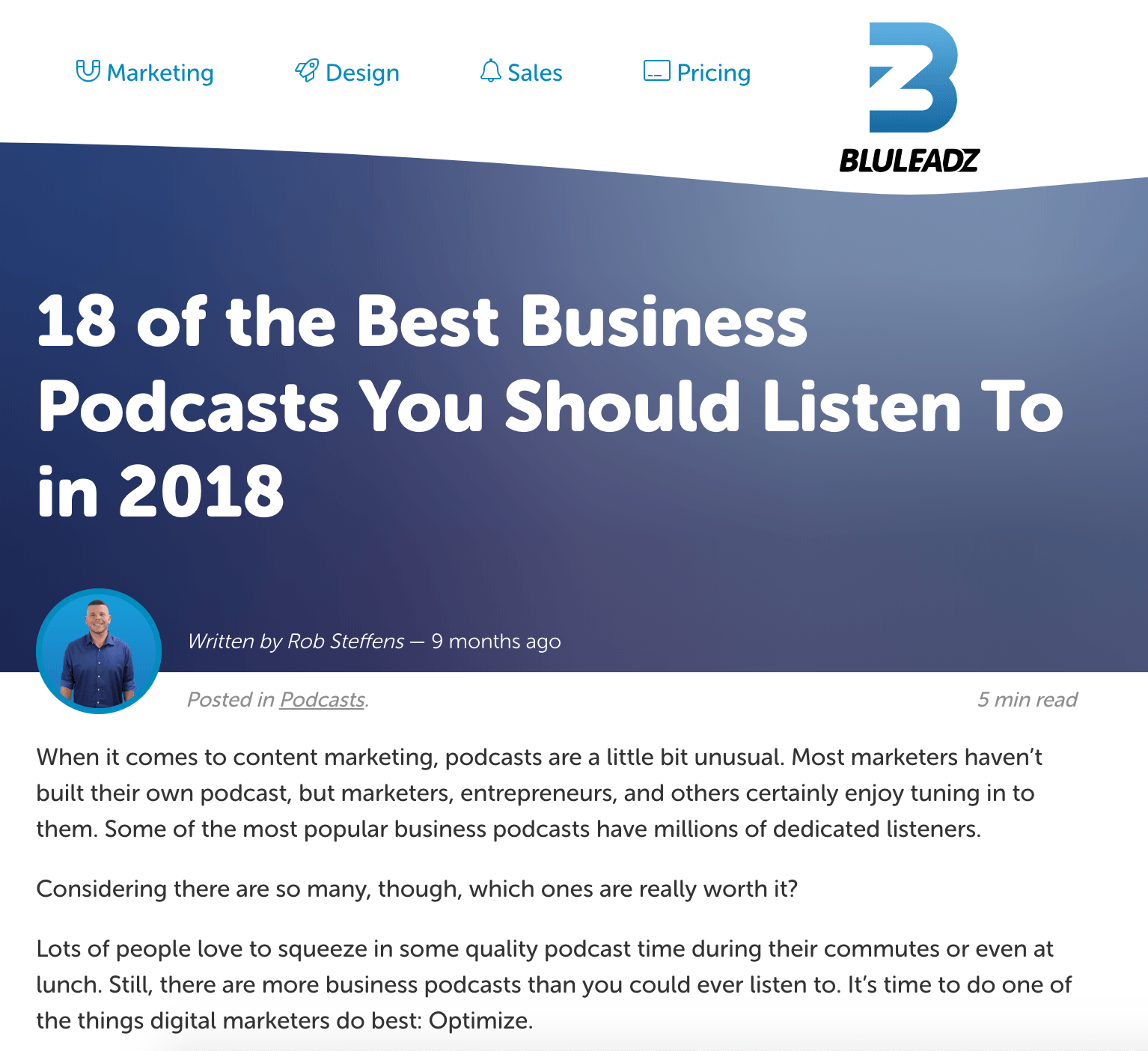 Podcast lists