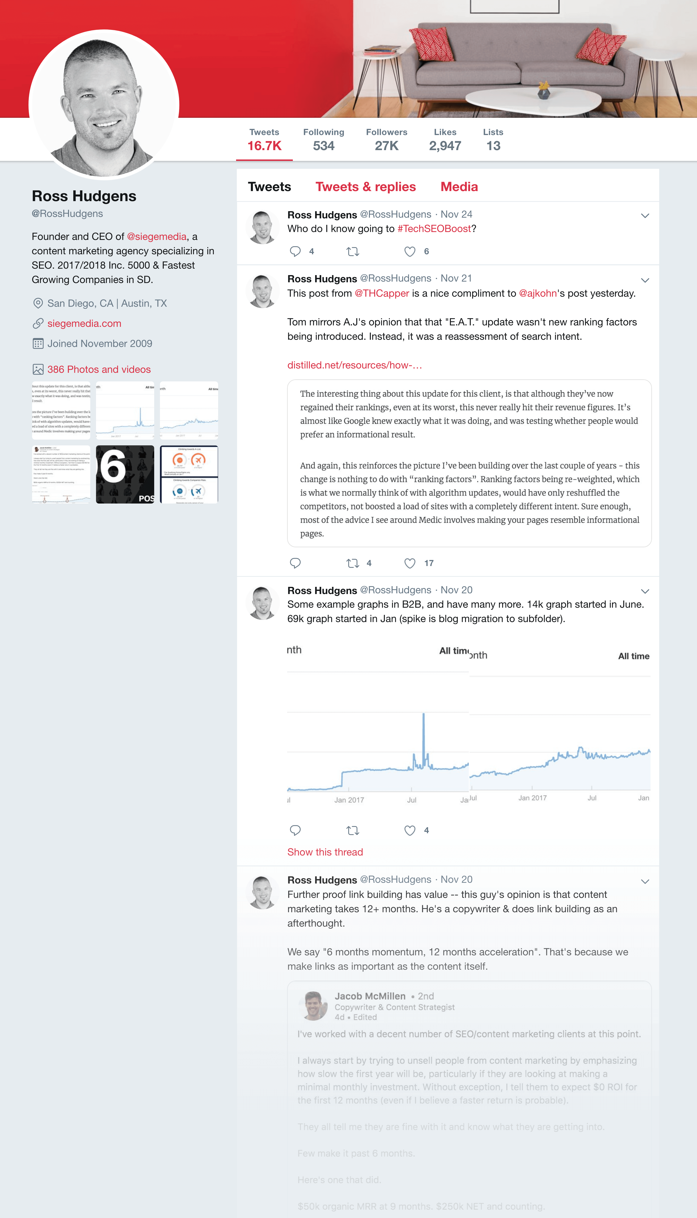 Ross Hudgens' Twitter feed