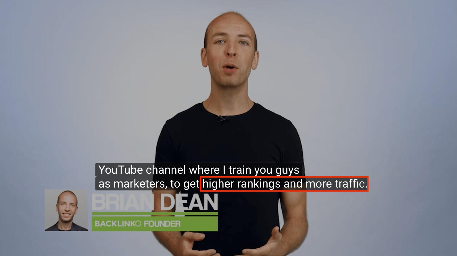 Say tagline in channel trailer