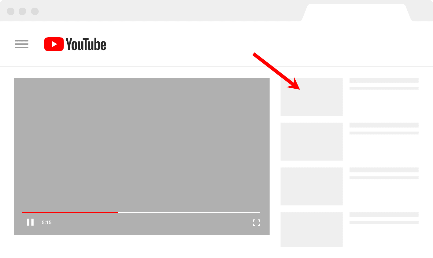 YouTube watch time sidebar