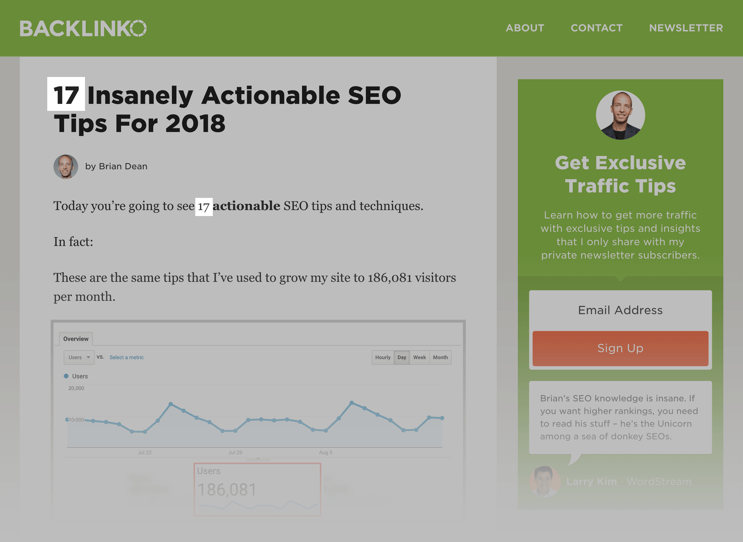 Actionable SEO Tips (number highlight) – Post