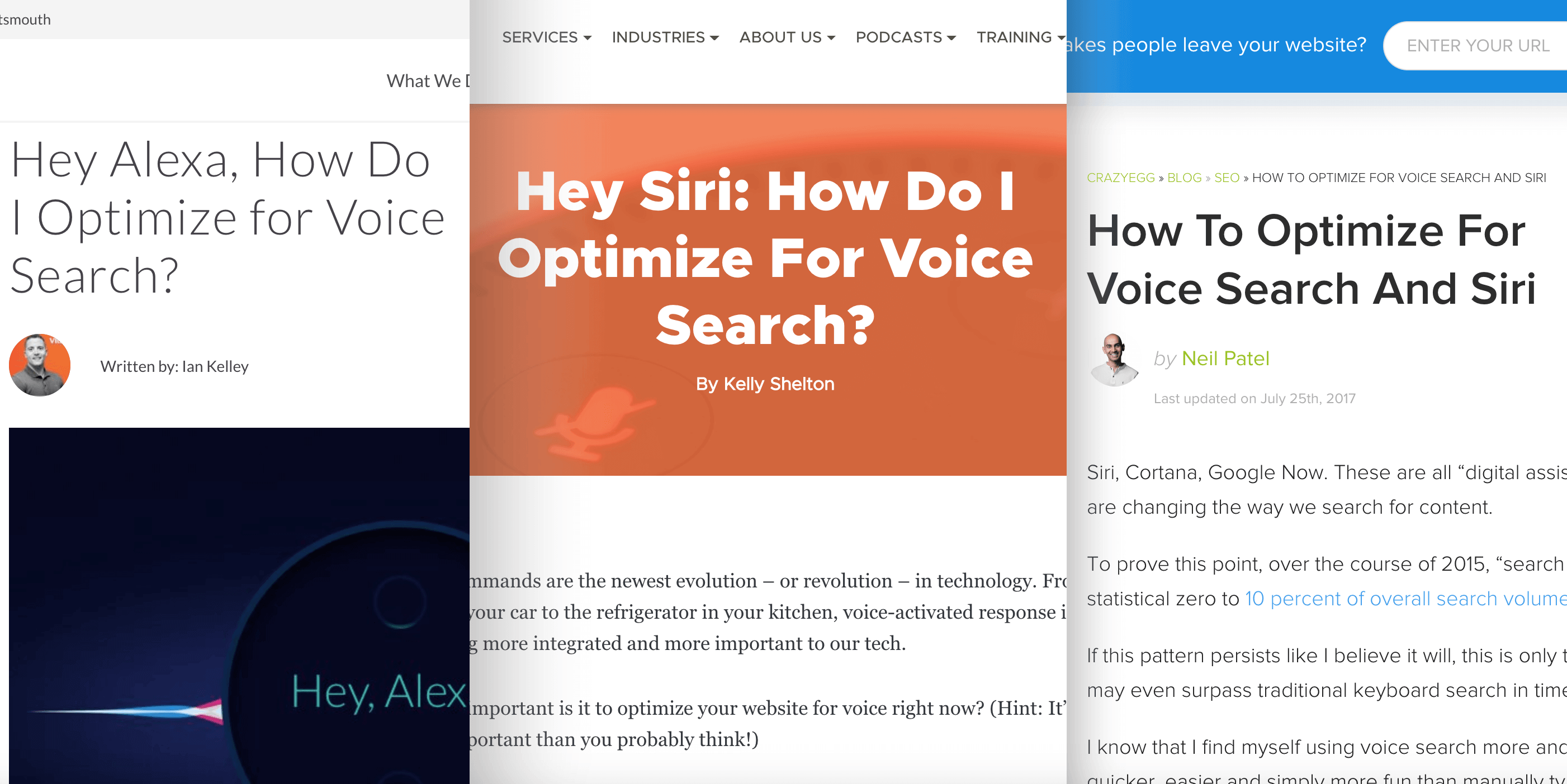 Bloggers writing about voice search