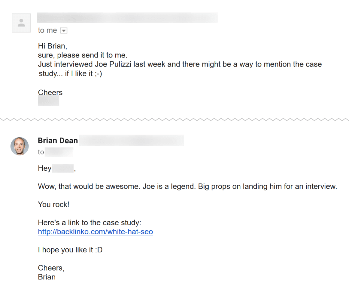 Email chain