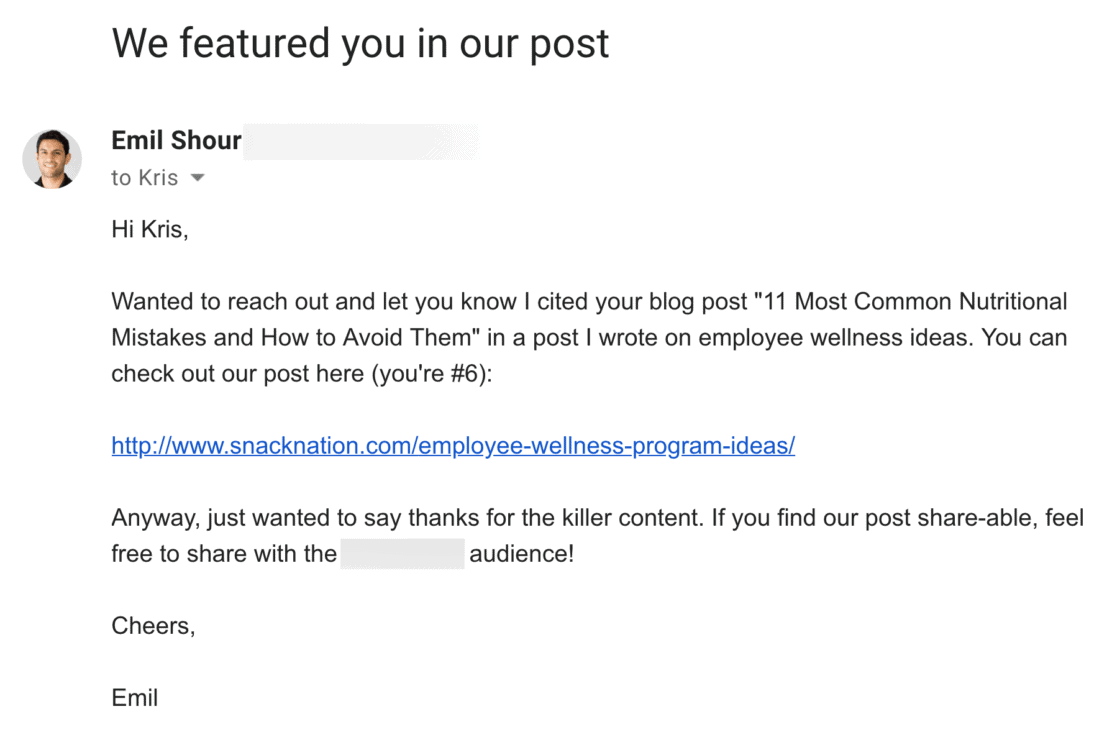 Emil – Authority Nutrition email