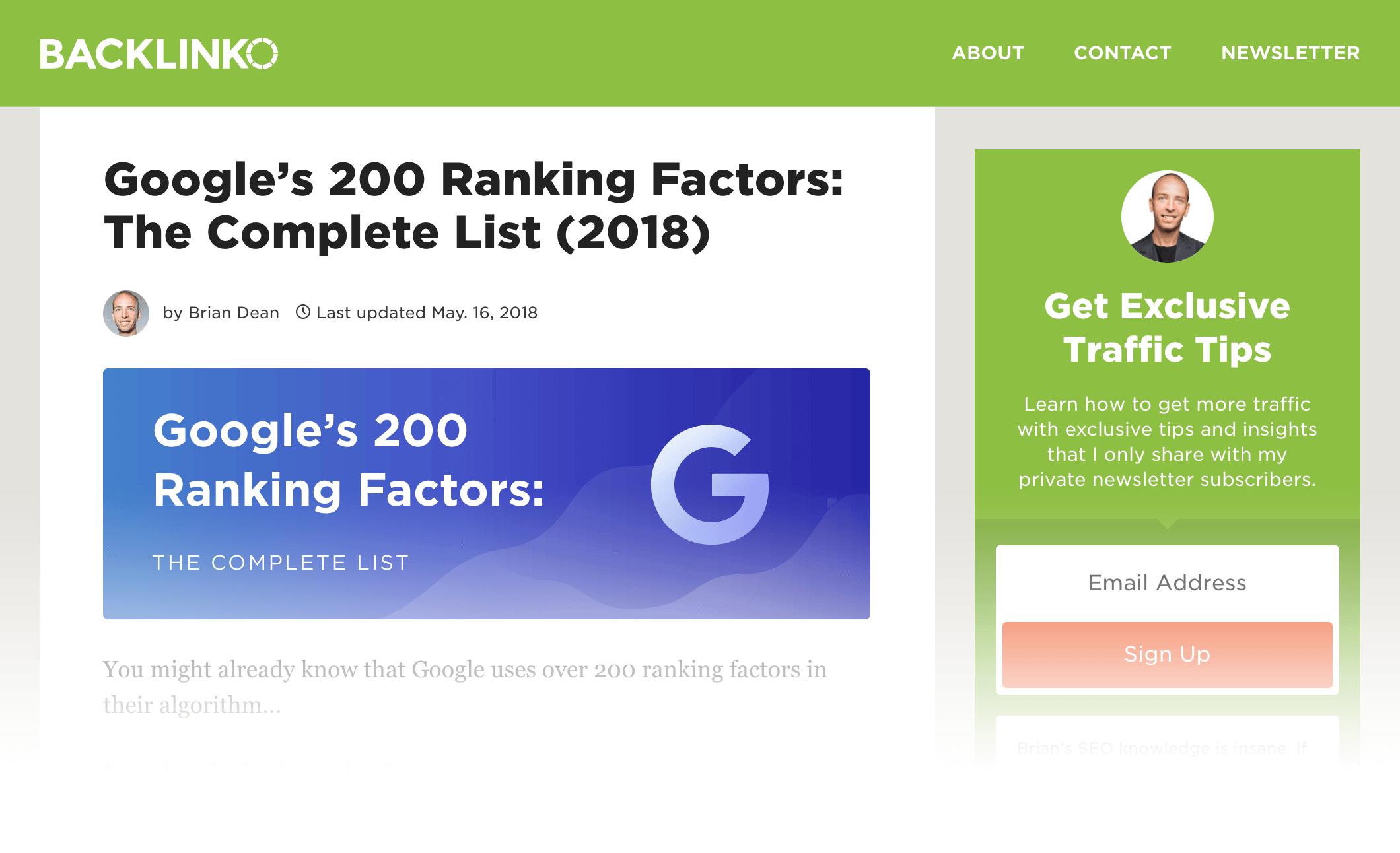 Google Ranking Factors – Post