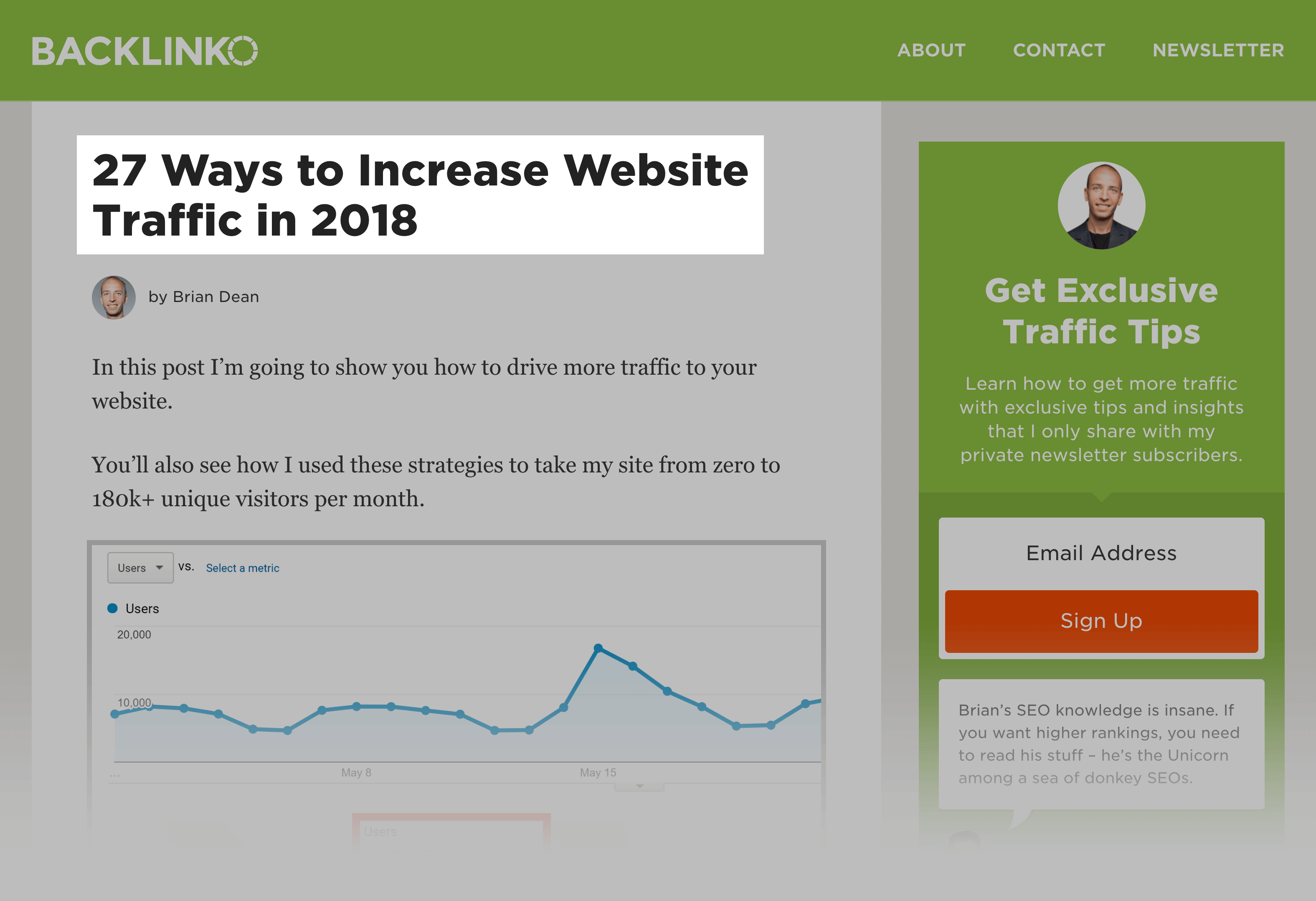 Increase Website traffic is now a list post