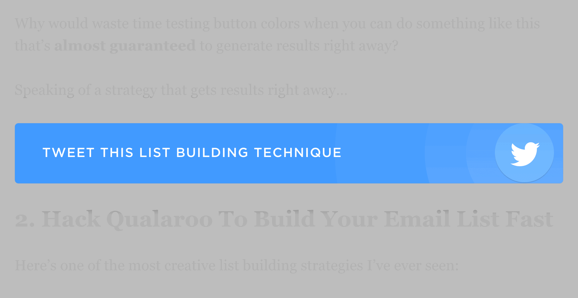 List Building post – Click-to-tweet buttons