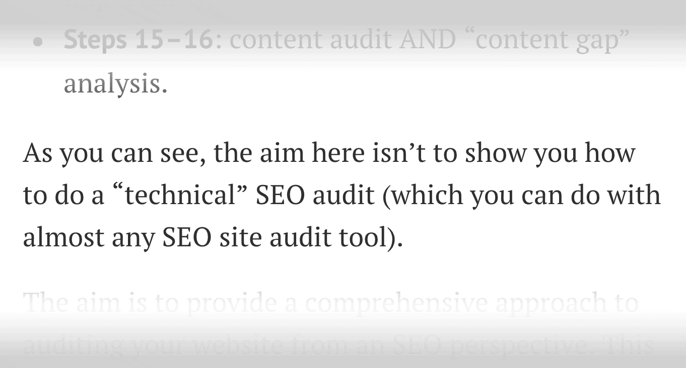 SEO Audit – Existing content – Non-technical steps