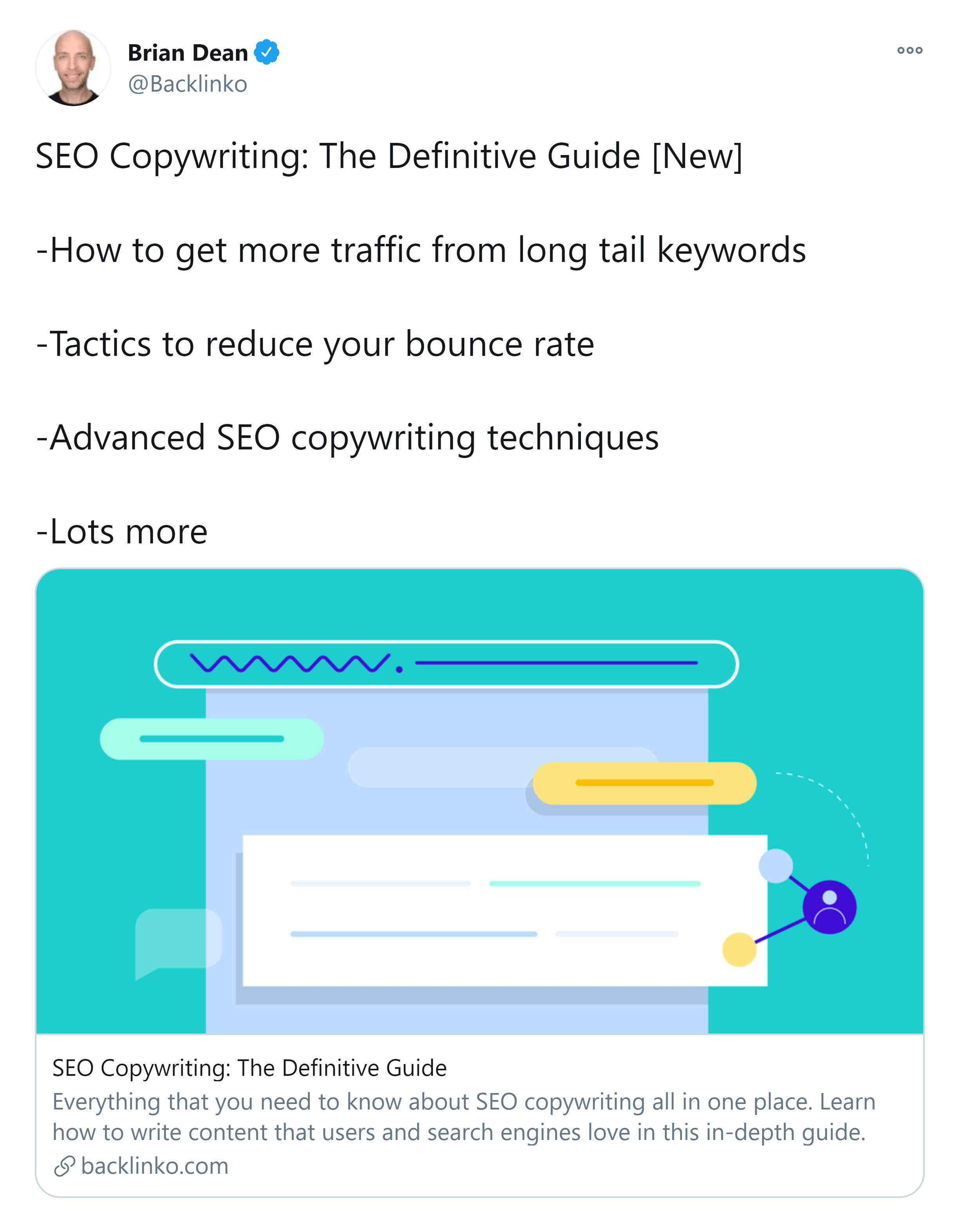 SEO Copywriting post – Twitter share