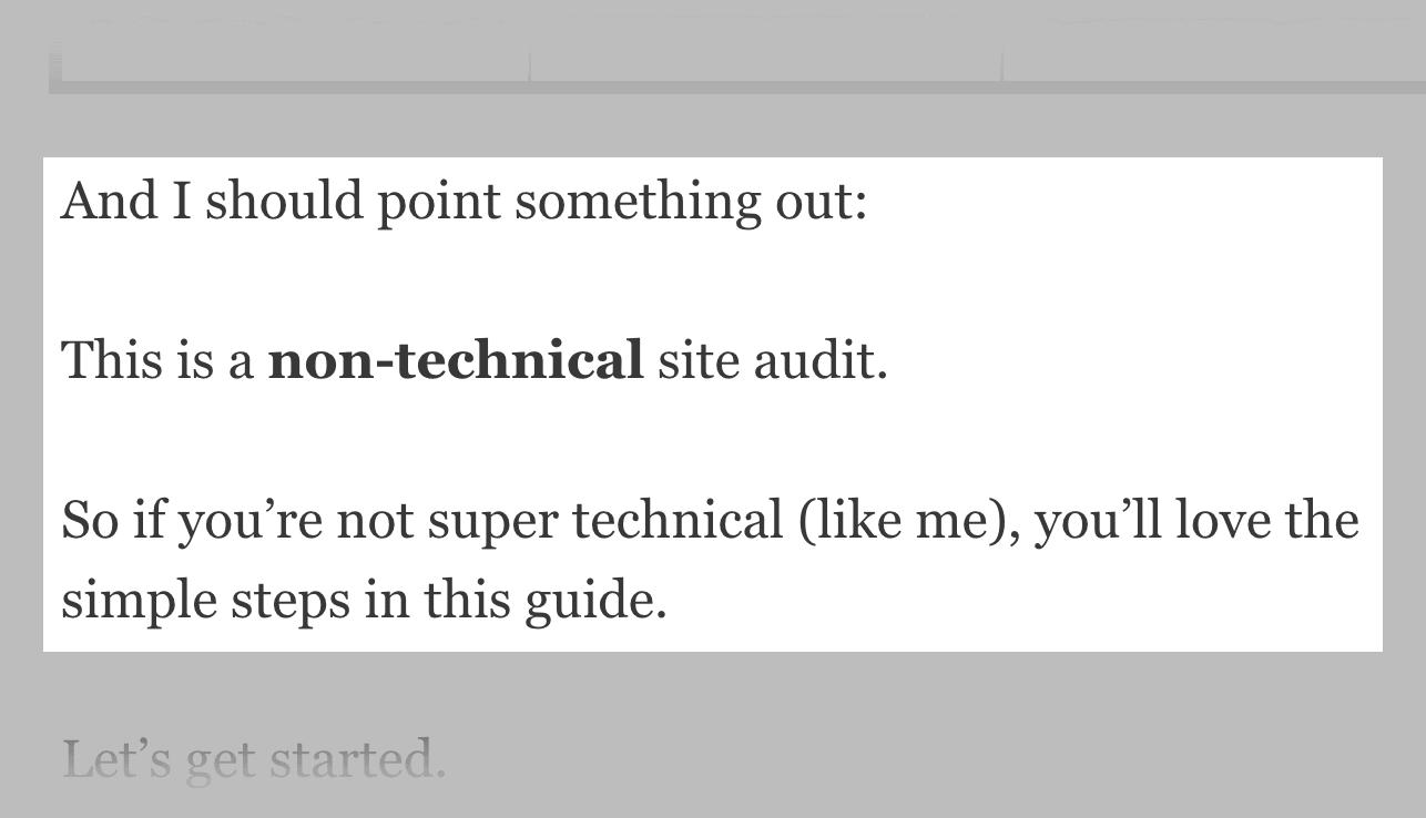 SEO Site Audit – Non-technical emphasis