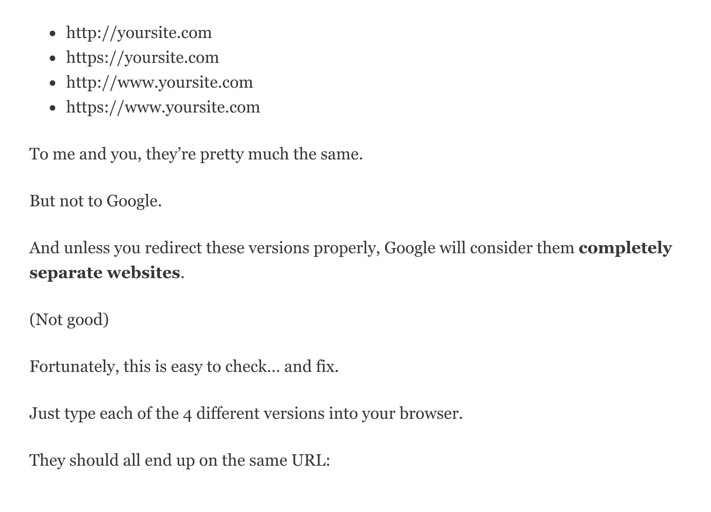 Visualization redirect example