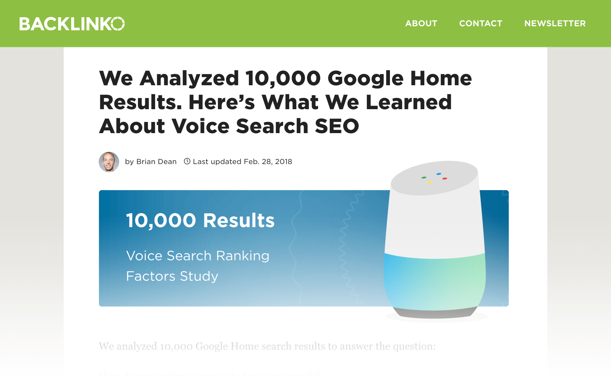 """Voice Search SEO study"" – Post"
