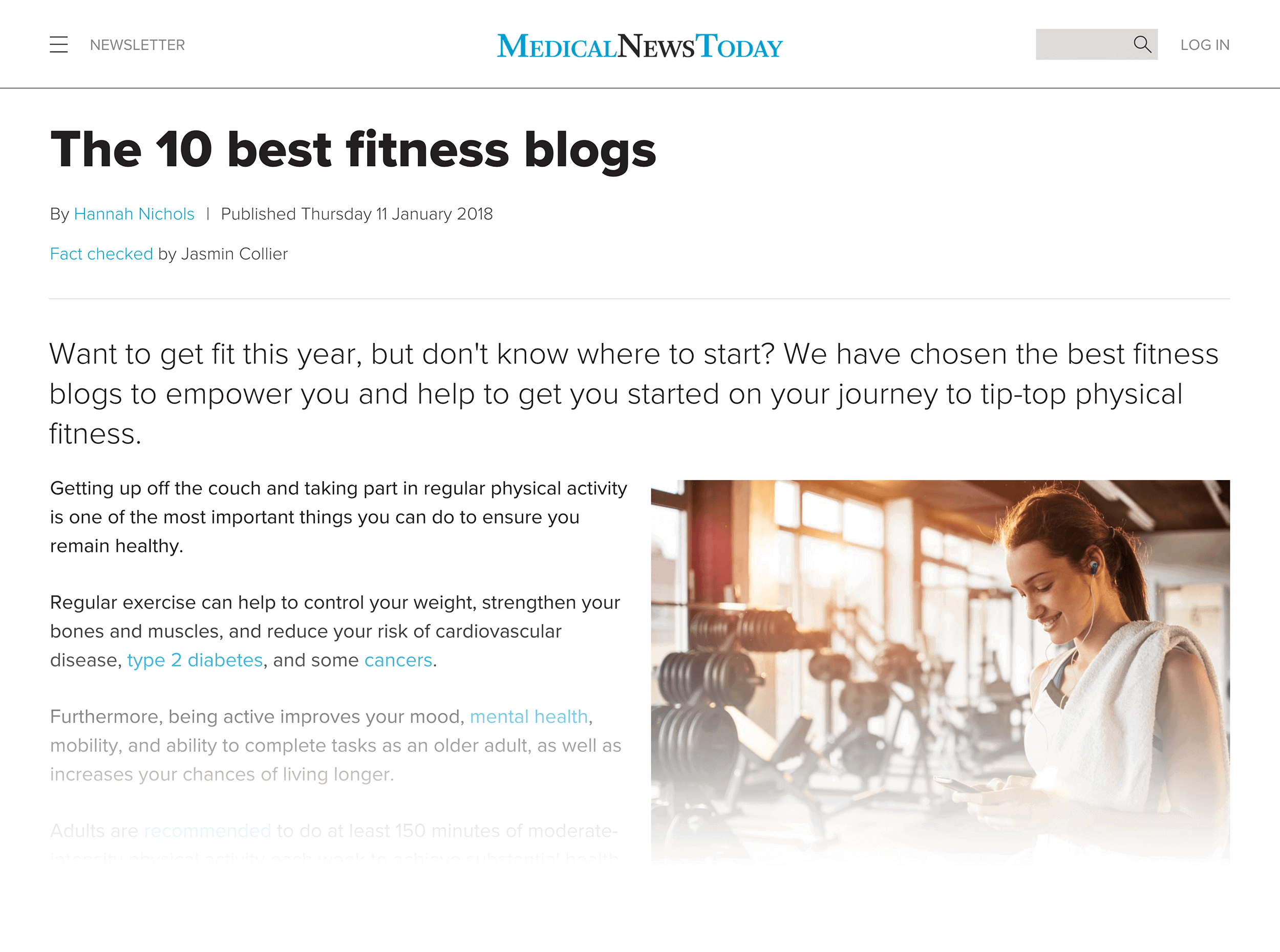 10 fitness blogs to follow