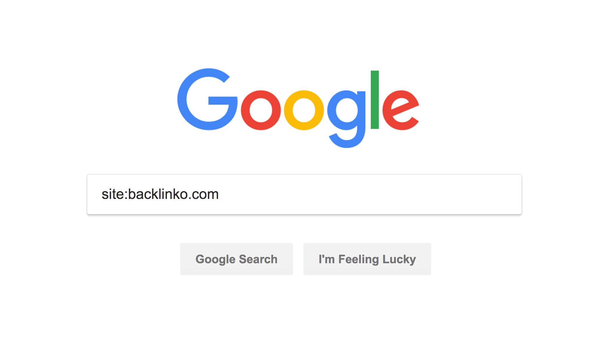 Backlinko index search