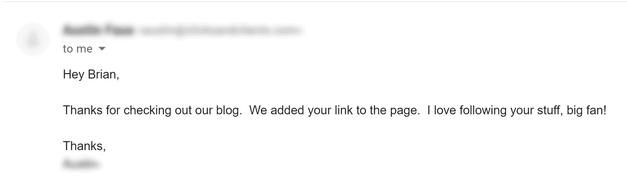 Broken link building – Response